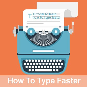 image of how to type faster tutorial