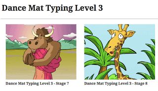 screenshot of kidztype-typing-games