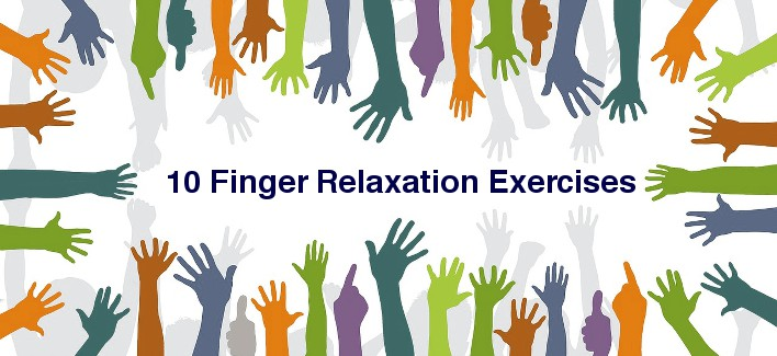 Finger exercises help relax after long typing sessions.