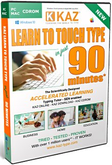 The KAZ typing tutor is a training course that teaches users how to type in 90 minutes flat.