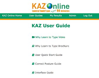 image of Kaz Typing Tutor - Screenshots - User Guides