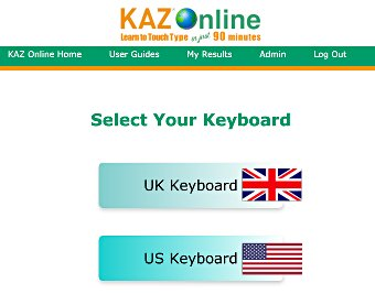 image of Kaz Typing Tutor - Screenshots - US, UK Keyboards