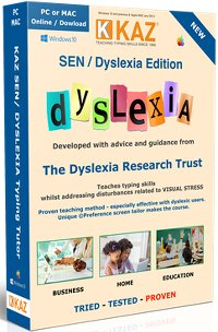 image of best typing software tutor for dyslexic people - KAZ Dyslexia