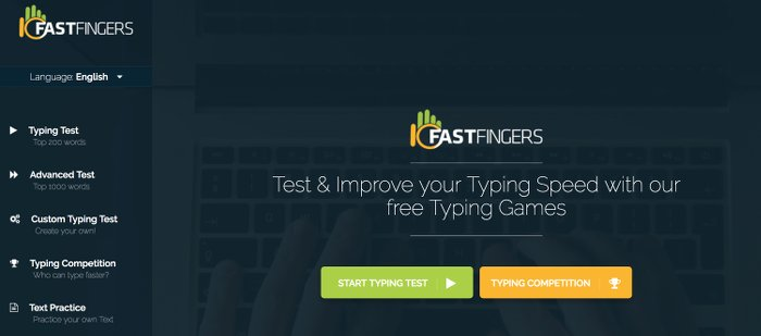 Image of 10 Fast Fingers Typing Test