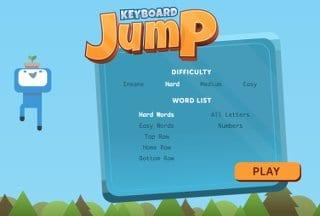 Screenshot image of Keyboard Jump Typing Game