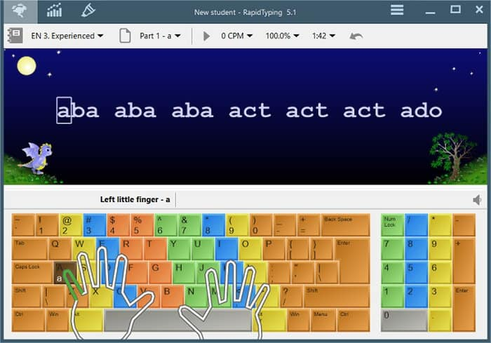 Screenshot image of Rapid Typing - Beginner course