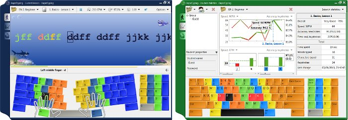 Keyboard screenshot images of Rapid Typing Tutor