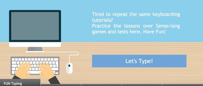 Image of SenseLang.Org Typing Test