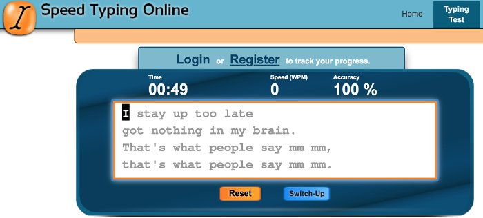 Image of Speed Typing Online Typing Test