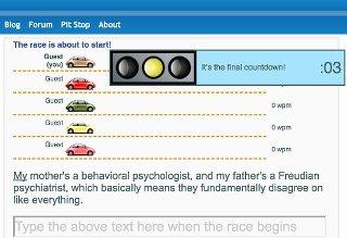 Screenshot of TypeRacer - Car Racing Typing Game