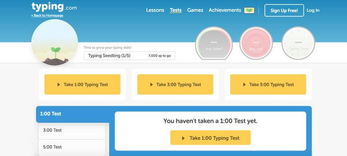 Image of typingcom Typing Test