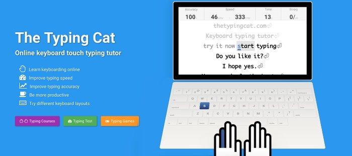 Image of TypingCat Typing Test