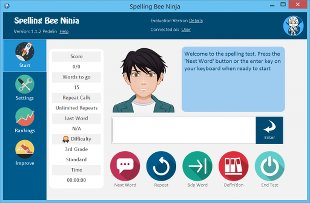 Image of the Spelling Bee Ninja - Software Application