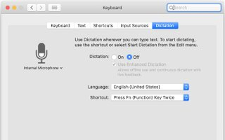 Image of Apple Dictation for Mac
