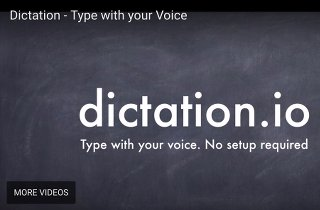 Image of Dictation.io voice-to-text software