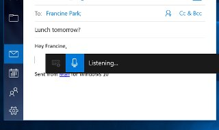 Image of Windows Speech Recognition Software Client